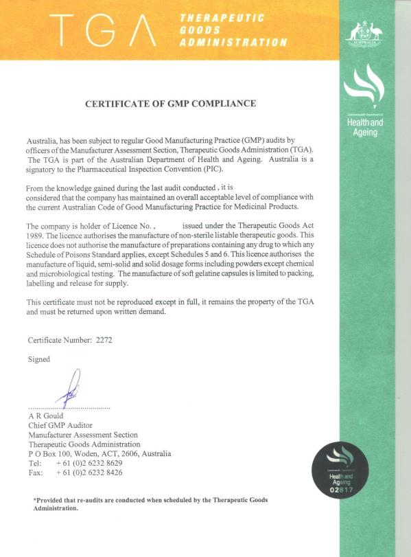 Certificate of GMP Compliance.JPG
